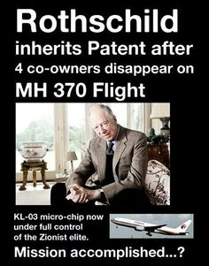 MH 370 plane disappearance via Rothschild?
