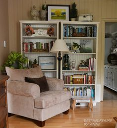 DesignDreams by Anne: Bead Board papered shelves for the Cottage Style Look