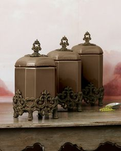 GG Collection Canisters - Horchow
