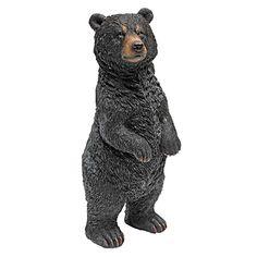 Park Avenue Collection Standing Black Bear Statue