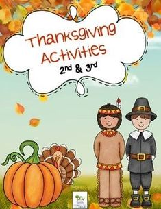 Thanksgiving Activities:  Includes reading comprehension passages, worksheets, graphic organizers and more!