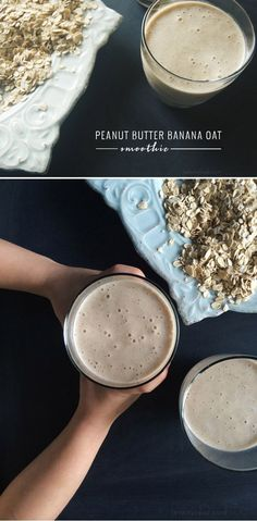(Seriously GOOD) Peanut Butter Banana Oat Smoothie. Packed with protein and fiber, this peanut butter smoothie is great for when the kids (or you!) need a pick-me-up STAT!
