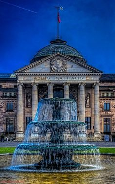 Wiesbaden Fountain front of the Kurhaus, Hesse, Germany | by Polybert49