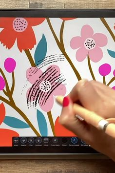 Textile Pattern Design, Textile Patterns, Print Patterns, Illustrator Tutorials, Art Tutorials, Design Tutorials, Digital Art Beginner, Affinity Designer, Ipad Art