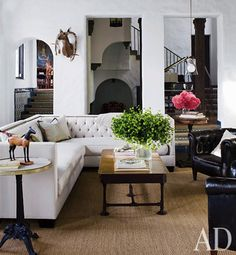 beautiful sectional! Architectural Digest: sunken living room