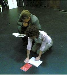 Rehearsal- proximity between them- hovering over her