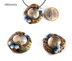 *POLYMER CLAY ~ Enchanted Drop 1 by Alkhymeia, via Flickr