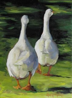 Duck Print Ducks Waddling Home Canvas Giclee by artprintsbycheri, $110.00