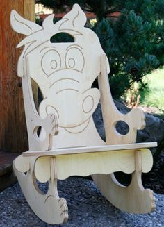 Horse/ Pony Puzzle Rocking Chair Free Name by UniqueDesigns2013, $65.00