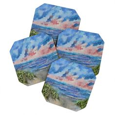 Rosie Brown Sensual Sunset Batik Coaster Set | DENY Designs Home Accessories   #coasters #beverage #bar #homedecor #denydesigns #art
