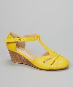 Yellow Low Heels | Tsaa Heel