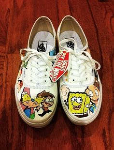 Nickelodeon Themed Custom Vans by Creativityism on Etsy 8c87a2433