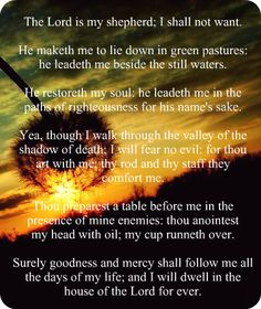 Psalm 23 | The Lord Is My Shepherd