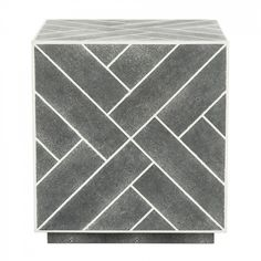 Safavieh Couture Emil Faux Shagreen Cube End Table
