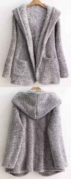 Warm up for coming fall with the hooded coat! Beautifully crafted,simple design, this piece is the perfect addition to your wardrobe. You need more must-have at Cupshe.com