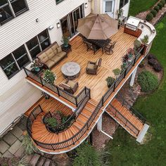 Deck Remodelers On Instagram: U201cAnother Glance At This Awesome Deck... The  Unique Staircase, Fire Pit, Completed Under Deck And Custom Kitchen  Completed With ...