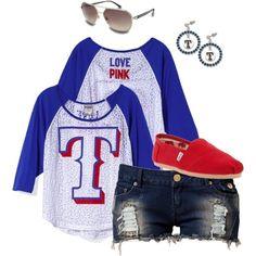 Texas Rangers love. Not a baseball fan but this is cute!! :)
