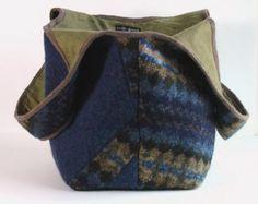 Hobo-Tasche aus recycelten Jeansblau Jeans mit von karenlukacs