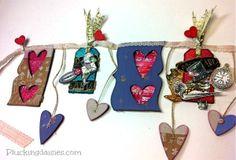 Recycled Cardboard Heart Banner | @PluckingDaisy