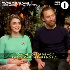 """If you're planning on surprising Tom Hiddleston any time soon, prepare for some waterworks. #EarlyMan Maisie Williams #TomHiddleston #MaisieWilliams #Aardman"" Video: https://www.instagram.com/p/Bec7XwgjuVm/"
