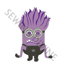 This MACHINE EMBROIDERY DESIGN Instant Download is a DESPICABLE ME 2 EVIL MINION! This design is NOT an applique, patch, or ANY TYPE OF FINISHED