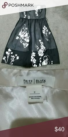 White house black market strapless dress Great used condition paid $158 for this dress worn once for a few hours White House Black Market Dresses Strapless