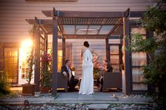 Love the back of this gown! So elegant. and the perfect setting too at The Berkeley Field House.