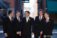 <3 the purple ties  #wedding #groom #groomsmen