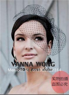 mobile site-White Black Red Ivry tulle fine short wedding veil birdcage bridal veils hair mantilla veil wedding decoration accessories