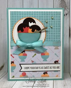 Cool Treats Stamp Set and Frozen Treats Framelits Dies - created by Sandy Mott