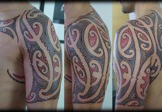 custom ta moko kirituhi new zealand maori half sleeve tattoo