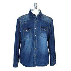 Men's Ryan Michael Wheeler Indigo Shirt at Maverick Western Wear