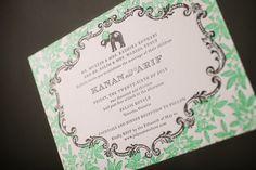 Bella Figura #letterpress #wedding #invitation | via PLY: The Ultimate Paper Blog