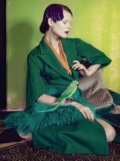visual optimism; fashion editorials, shows, campaigns & more!: go cabaret: irina kravchenko by sofia sanchez & mauro mongiello for harper's bazaar germany october 2014