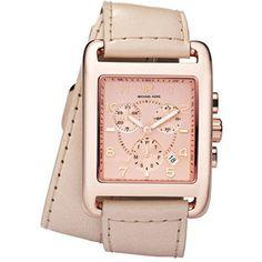 Michael Kors Double-wrap Leather watch #MichaelKors #RoseGold #DoubleWrap #Watch