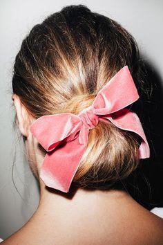 Velvet hair bow #style #hair