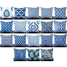 Pillow Throw Pillow Pillow Cover Cushion Decorative Pillow Cobalt... (140 CNY) ❤ liked on Polyvore featuring home, home decor, throw pillows, grey, home & living, home décor, navy throw pillows, white accent pillows, cobalt blue throw pillows and blue toss pillows