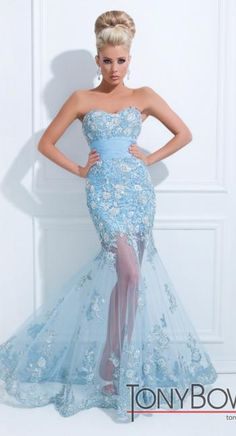 I love the see through skirt on this prom dress!! @Terry Song Song Costa  #tonybowls