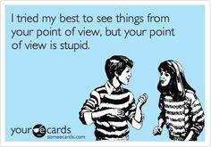 Oh, stupid people...