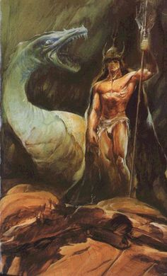 Cover art for a French paperback edition of The White Dragon (Le dragon blanc). When I see this cover art I always have to think of Conan the Barbarian rather than of Jaxom. No, in this sexy and athletic male with helmet and loincloth we can't recognise Jaxom though we must admit the dragon seems to be white...  © Copyright Wojtek Siudmak, all rights reserved