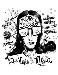 ANDRÉS CAICEDO /PORTADA MusicMachine on Behance