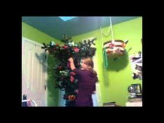 How to Decorate an  Upside Down Christmas Tree: Placing Balls