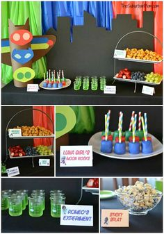 PJ Masks Party Food Ideas Kindergeburtstag Ideen zur Motto Party PJ Mask Essen, Kuchen