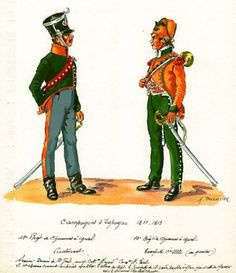 French; Chasseurs a Cheval - 15th Chasseurs a Cheval, Lieutenant &  16th Chasseurs a Cheval, Elite Company ,Trumpeter in Spain 1811-13
