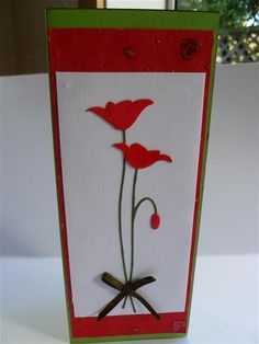 Prim Poppy with flowers gone over in Glossy Accents