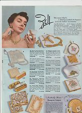 1950s Ad - ZELL Compacts Cigarette Cases Purse Carryall Clutch