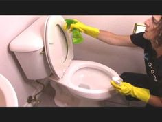 How to deep Clean Your Toilet. Natural toilet cleaning hack to kill germs.