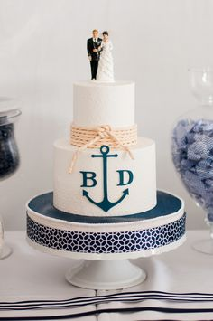 pretty cake. not sure how you feel about monograms
