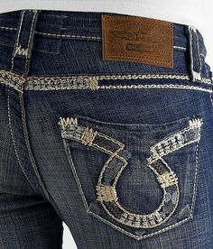 womens Big Star Jeans SWEET BOOT ULTRA LOW RISE size 28 **Buckle ...