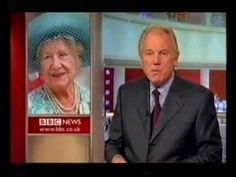 BBC announcing the death of Her majesty Queen Elizabeth the Queen Mother